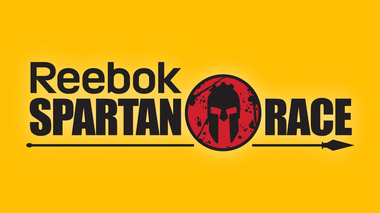 Entête jaune Événement Reebok Spartan Race (2016) logo