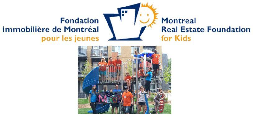 Module de jeux offert par la Fondation immobilière de Montréal pour les jeunes
