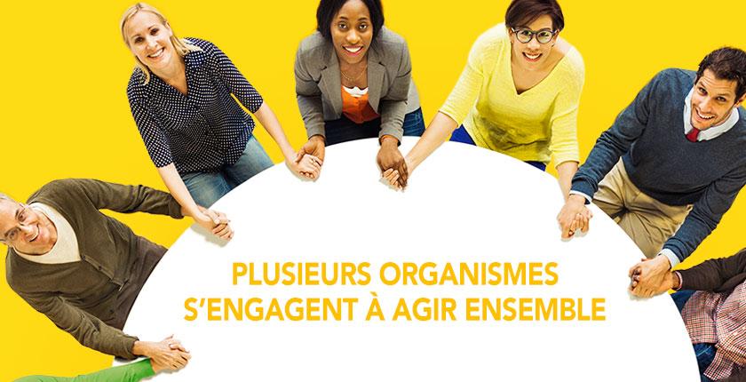 Blogue Plusieurs organismes s'engagent à agir ensemble - gens autour d'une table ronde