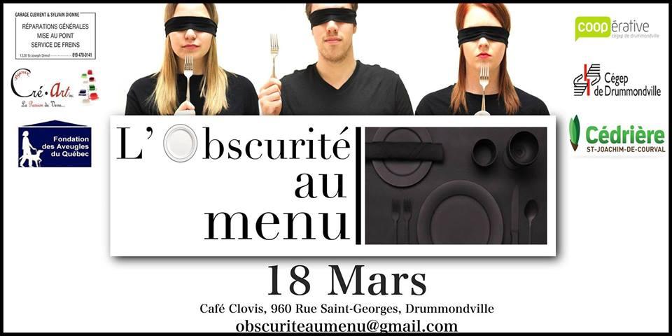 Affiche de L'Obscurité au menu