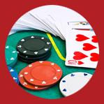Image pour la soirée casino - cartes et jetons