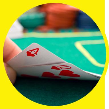 Image pour la soirée casino - carte blackjack