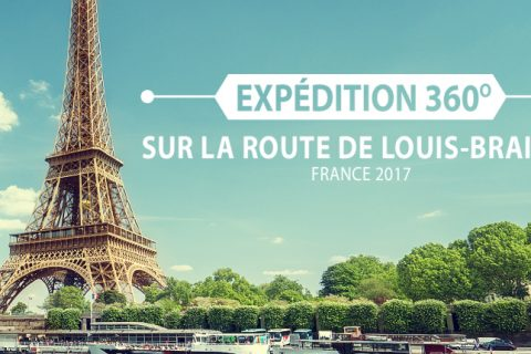 Voyage à Paris - sur la route de Louis Braille - Entête avec tour Eiffel - Expédition 360