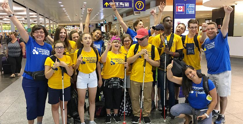 Voyage à Paris - sur la route de Louis Braille - à l'aéroport