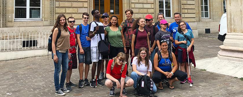 Expédition 360 - Voyage à Paris - Sur la route de Louis Braille - INJA - le groupe
