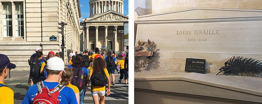 Expédition 360 - Voyage à Paris - Sur la route de Louis Braille - Panthéon de Paris et tombe Louis-Braille