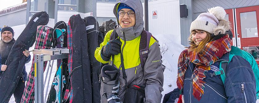 Ski La Réserve 2018 - Préparatifs près du chalet