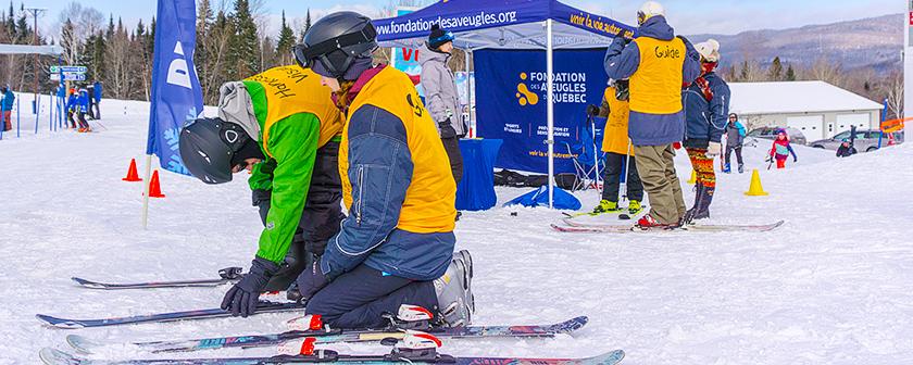 Ski La Réserve 2018 - Préparatifs près de la tente FAQ