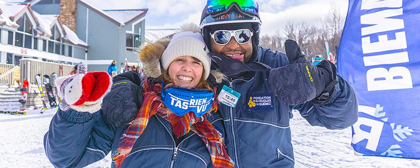 Ski La Réserve 2018 - Moniteur et skieur T'as rien vu près du chalet