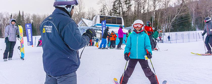 Ski La Réserve 2018 - jeune skieur T'as rien vu avec moniteur