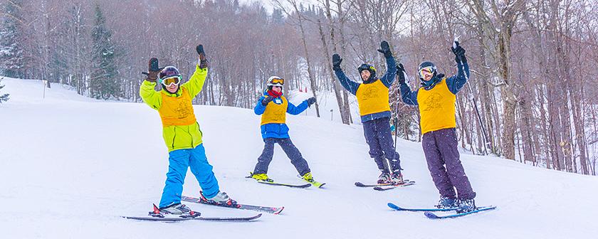 Ski La Réserve 2018 - Skieur sur la pente