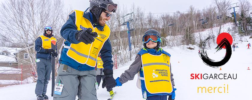 Sortie de ski à Garceau 2018 #17 entête avec logo Ski Garceau et Merci!