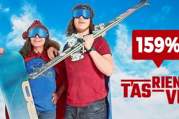 Entête T'as rien vu - Toute le monde sur les pistes - 159% - skieur et planchiste