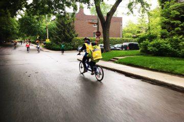 Tour de l'ile - Équipe tandem en action