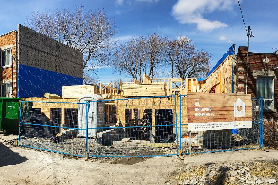 Construction d'un nouveau projet d'habitation