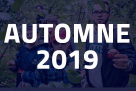 Visuel bleu pointu calendrier Automne 2019