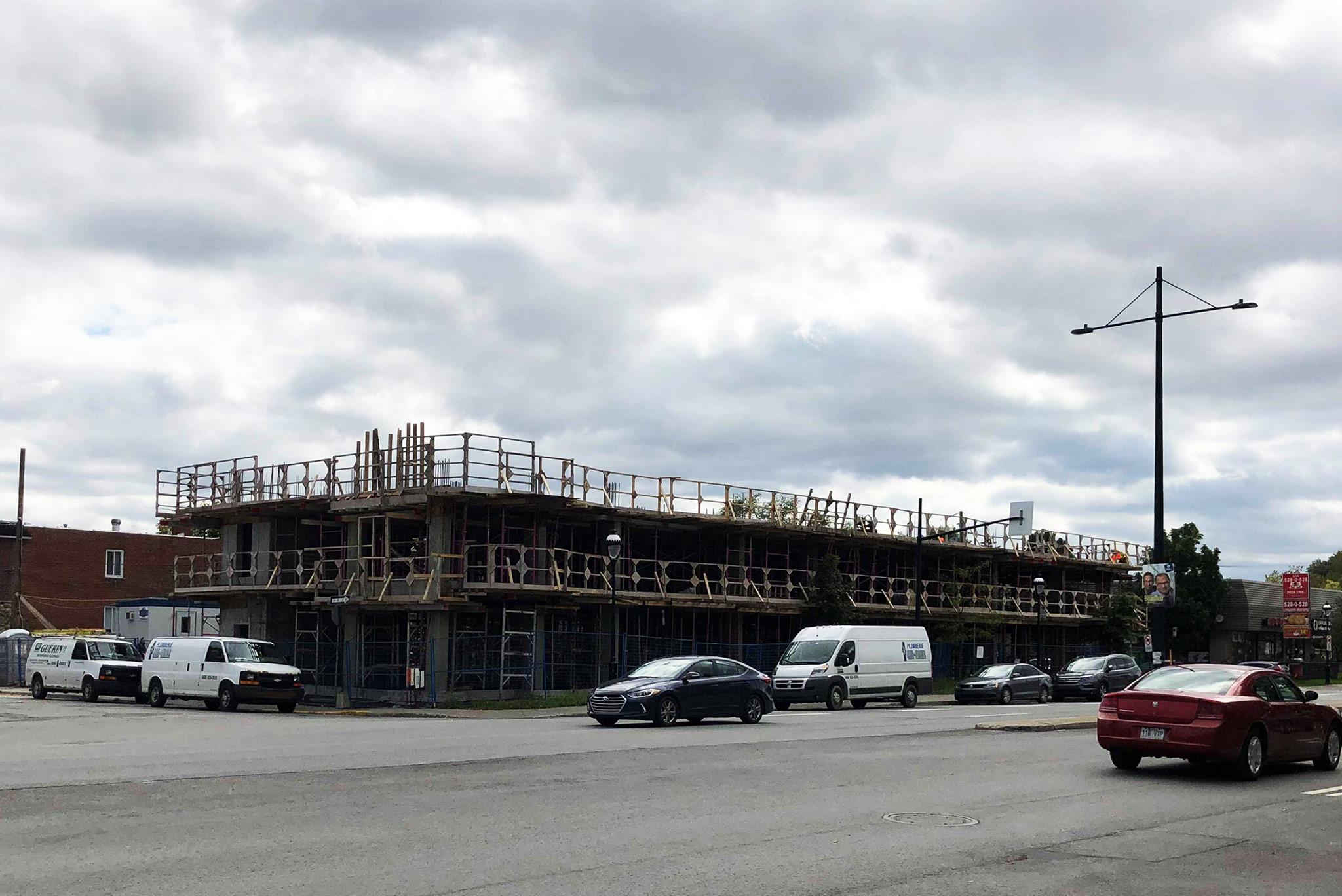Photo de l'avancement de la construction de notre nouvel immeuble
