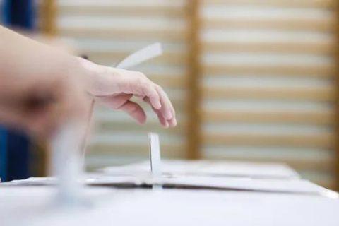 image d'un electeur déposant son buletin de vote dans l'urne