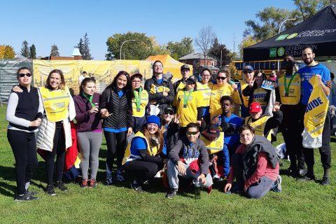 Photo de groupe des participants du marathon de l'ASAQ