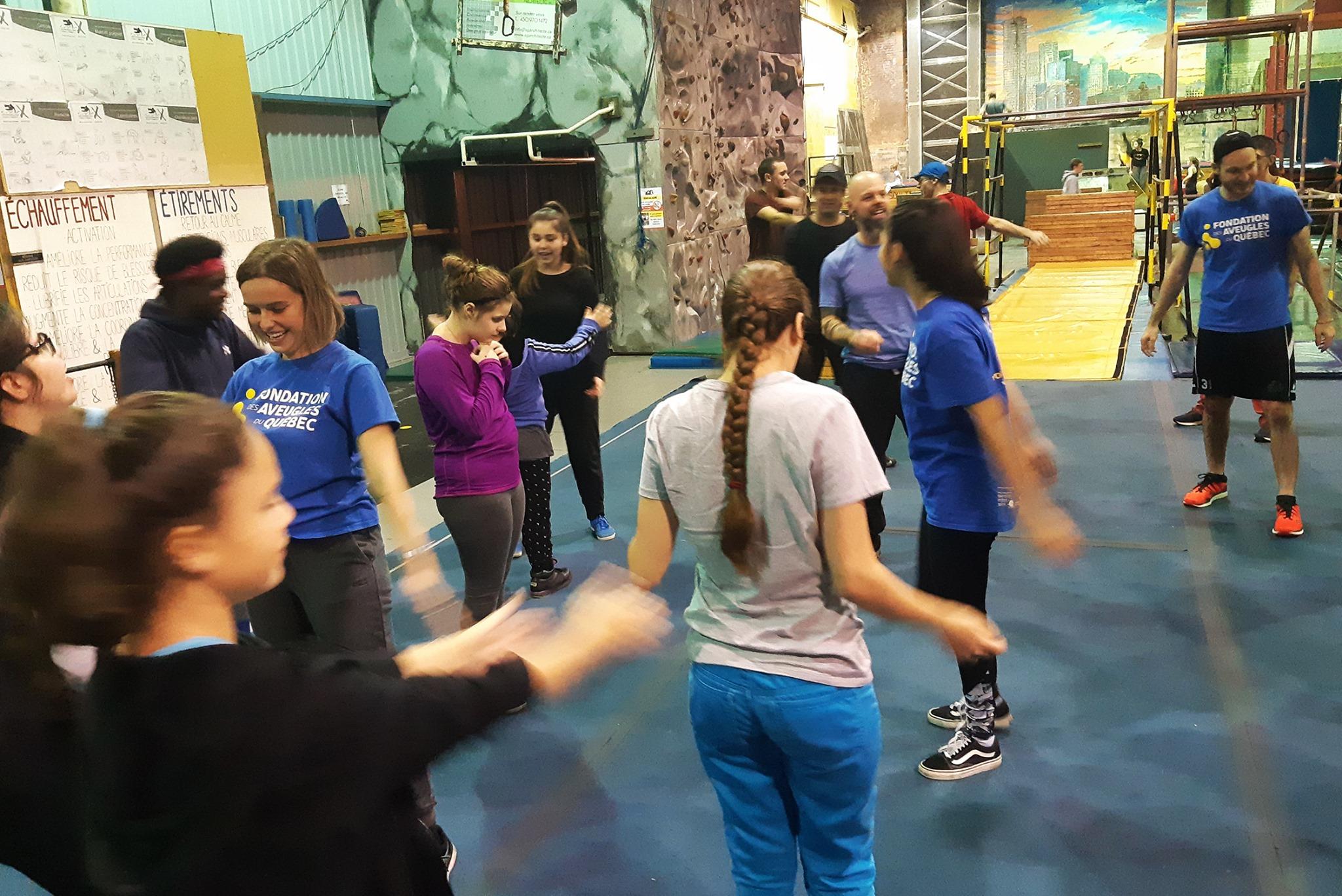 Photo d'un groupe du service des loisirs à Gym X
