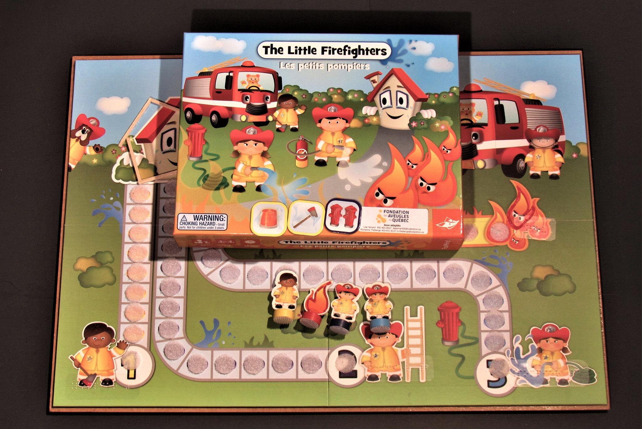 Photo prise d'un jeu adapté (Les petits pompiers)