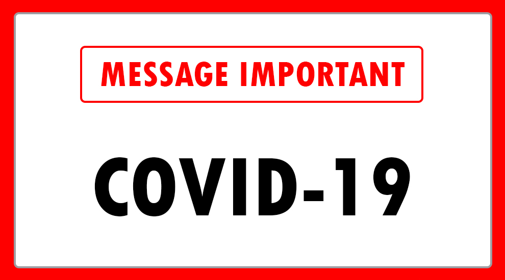 Image indiquant: Message important COVID-19