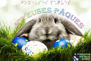 Image d'un lapin - Joyeuses Pâques