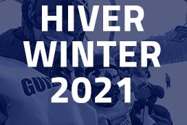 Visuel bleu pointu calendrier Hiver 2021