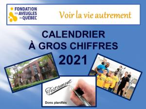 Image de la page couverture du calendrier à gros chiffre 2021
