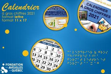 Le calendrier à gros chiffres 2021 est enfin arrivé!