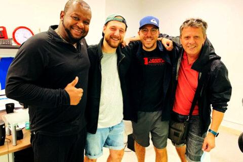 Description de l'image: Photo de Steve Joseph, Dominic Stiplosek, Alexandre St-Arnaud et Ronald Beauregard.